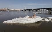 Фотограф Reuters Илья Наймушин сфотографировал ледоход на Енисее